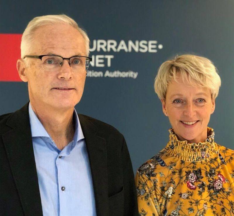 Konkurransedirektør Lars Sørgardars og Elisabeth Lier Haugseth, direktør i Forbrukertilsynet.