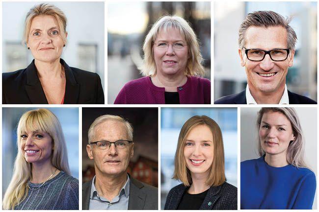 Portrettbilde av syv ansatte i Konkurransetilsynet.