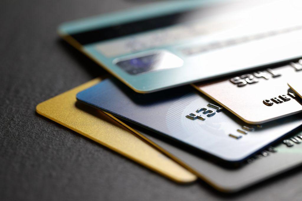 Bunke med kredittkort